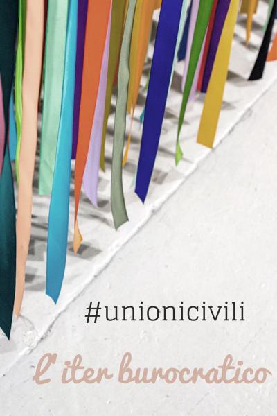 arcobaleno di nastri - decorazione unione civile